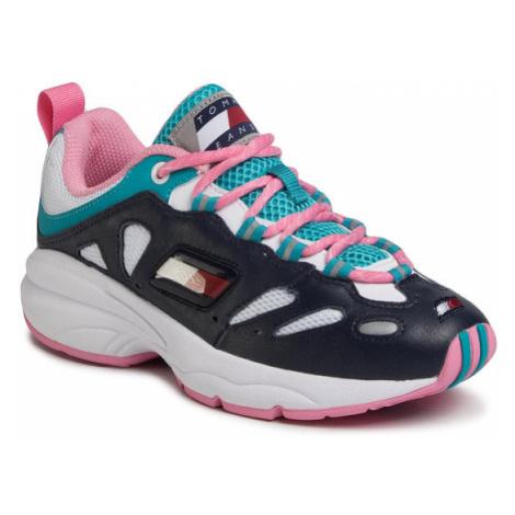 Tommy Jeans Sneakersy Heritage Retro Wmn Tommy Sneaker EN0EN00777 Granatowy