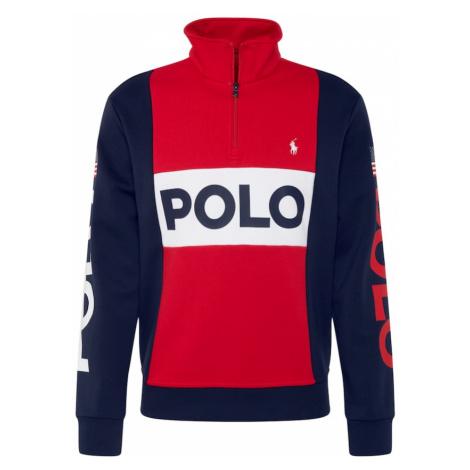 POLO RALPH LAUREN Bluzka sportowa 'LSHZM2' niebieski / czerwony