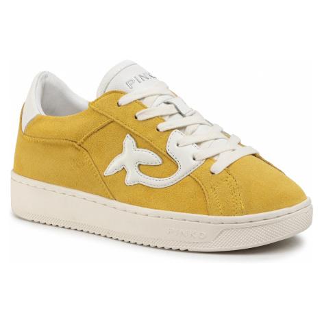 Sneakersy PINKO - Liquirizia 1 PE 20 BLKS1 1H20PX Y61B Giallo/Bianco