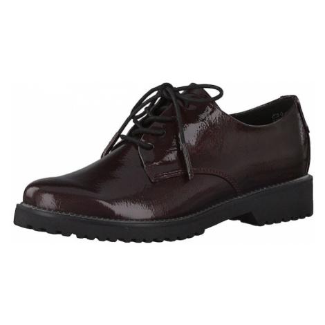 MARCO TOZZI Buty sznurowane bordowy