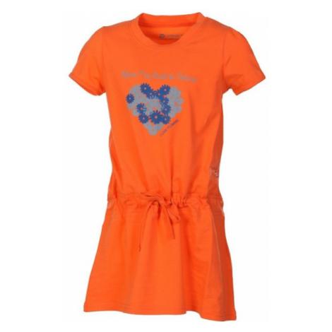 ALPINE PRO TANGERINO  128-134 - Sukienka dziewczęca