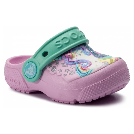 Klapki CROCS - Fun Lab Clog K 205001 Ballerina Pink/New Mint