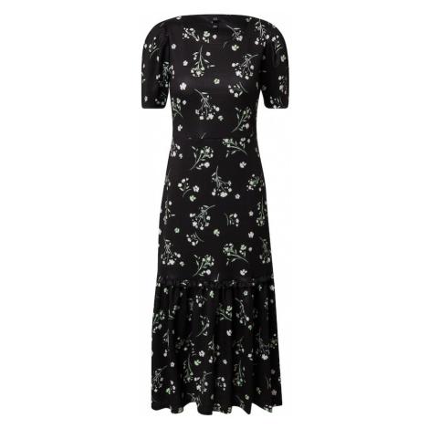 River Island Sukienka czarny / biały / jasnozielony