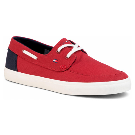 Tenisówki TOMMY HILFIGER - Seasonal Core Boat Shoe Sneaker FM0FM02760 Regatta Red XIT