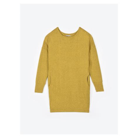 GATE Basic długi sweter z kieszeniami