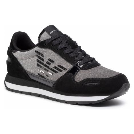 Sneakersy EMPORIO ARMANI - X3X058 XM510 N109 Black/Black/Blk/Blac