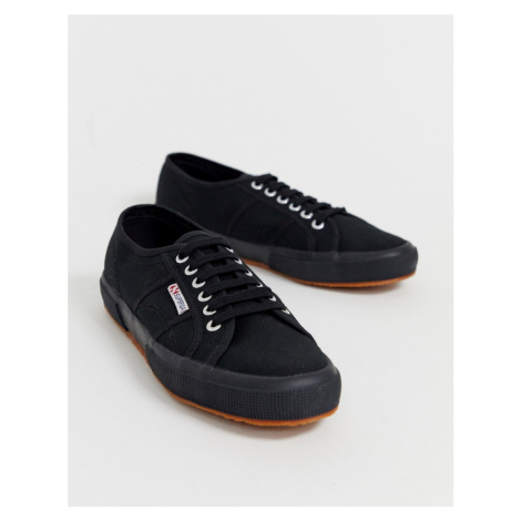 Superga 2750 classic plimsolls in black canvas
