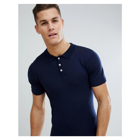 Bellfield Knitted Polo Shirt