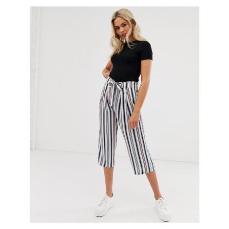 JDY stripe tie waist culottes