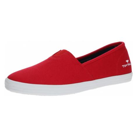 TOM TAILOR Pantofle biały / jasnoczerwony