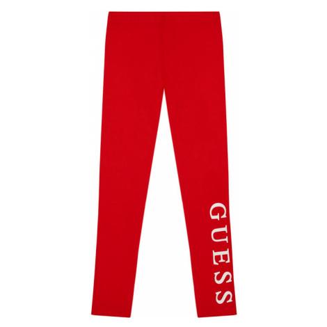 Guess Legginsy J94B16 K82K0 Czerwony Slim Fit