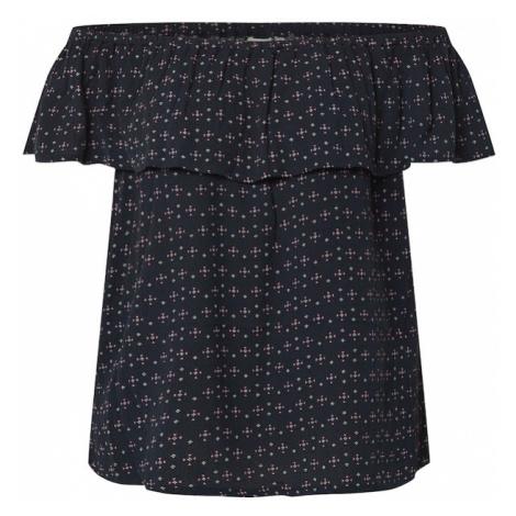 ICHI Koszulka 'MARRAKECH' biały / ciemny niebieski / różowy pudrowy