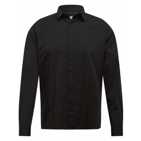 ESPRIT Koszula 'N SoliSt Po lsl' czarny