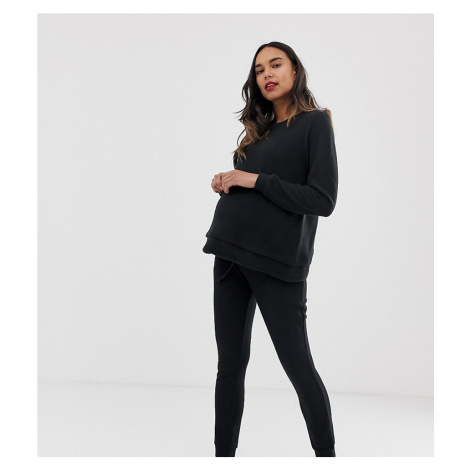 ASOS DESIGN Maternity lounge soft touch sweat & jogger set