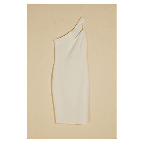 Trendyol Ekru Collar Detailed Dress