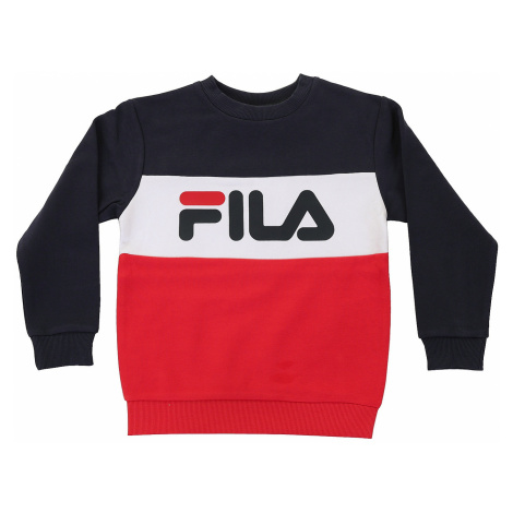 bluza Fila Night Blocked Crew - Black Iris/True Red/Bright White
