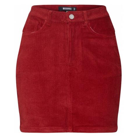 Missguided Spódnica czerwony