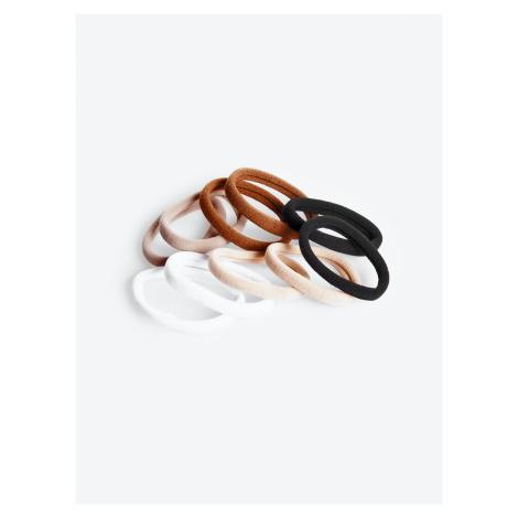 GATE Zestaw 10 kolorowych gumek do włosów