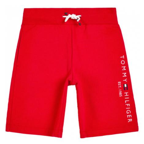TOMMY HILFIGER Szorty materiałowe Essential KB0KB05671 D Czerwony Regular Fit