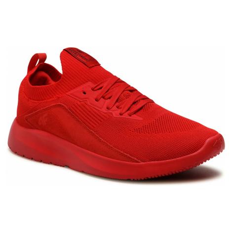 Sneakersy 4F - D4L21-OBML203 Czerwony