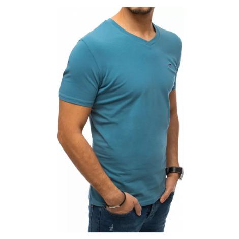 Męski zwykły T-shirt jasnoniebieski Dstreet RX4542