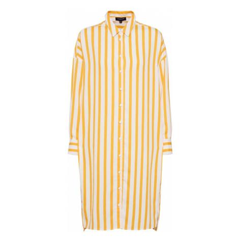 SELECTED FEMME Sukienka koszulowa żółty / biały