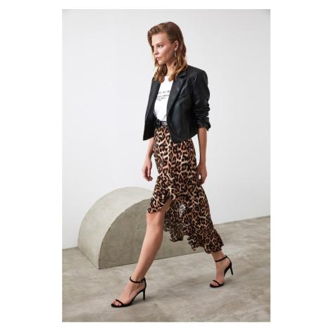 Trendyol Brown Slit Skirt