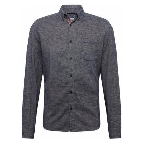 !Solid Koszula biznesowa ciemny niebieski