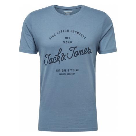 JACK & JONES Koszulka 'JORRAFA' podpalany niebieski