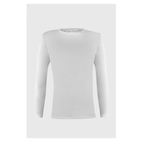 Biała koszulka z długimi rękawami Cotton Nature Ysabel Mora