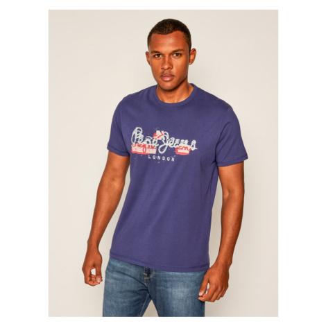 Pepe Jeans T-Shirt Salomon PM507272 Fioletowy Regular Fit