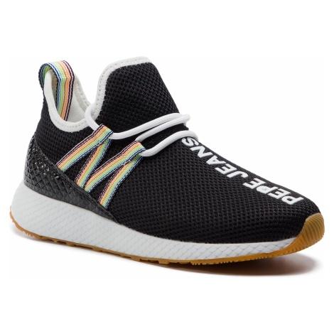Sneakersy PEPE JEANS - Koko Tokio PLS30844 Black 999