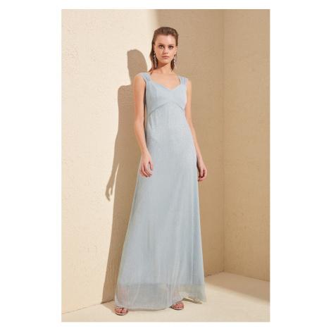Trendyol Grey Back Szczegółowa suknia wieczorowa & sukienka dyplomowa