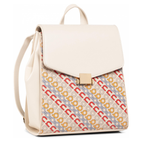 Plecak NOBO - NBAG-I1540-C015 Beżowy z Nadrukiem