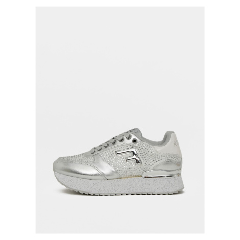 Damskie tenisówki w kolorze srebrnym Replay