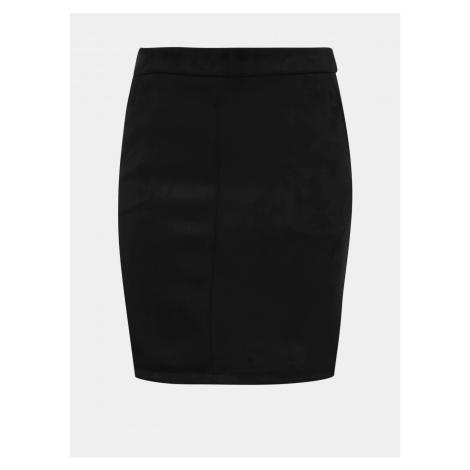 Vila Faddy Black Suede Pencil Skirt
