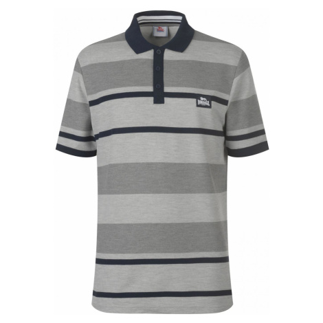 Lonsdale Yarn Dye Stripe Polo Shirt Mens