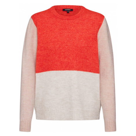 MORE & MORE Sweter 'Colorblock Pullover' piaskowy