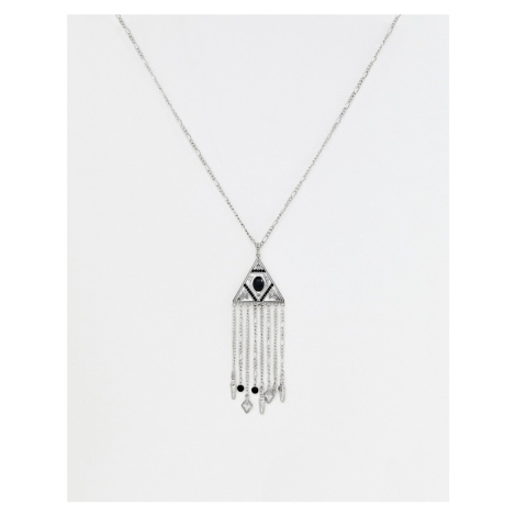 Sacred Hawk fringe necklace