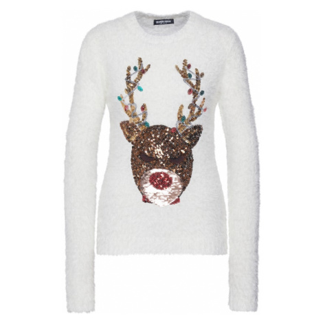 Fashion Union Sweter 'REINDEER' biały
