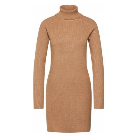 VILA Sukienka brązowy