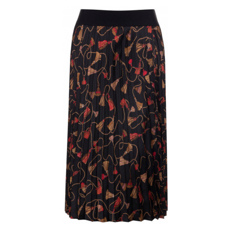 Marella Spódnica plisowana Nuevo 31060996 Czarny Regular Fit