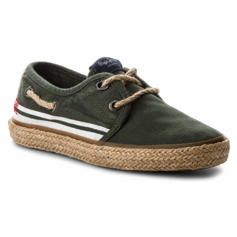 Espadryle PEPE JEANS - Sailor Tape PBS10085 Khaki Green 765