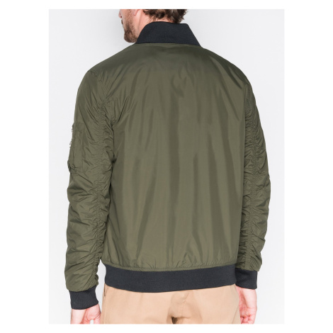 Ombre Clothing Men's mid-season bomber jacket C330