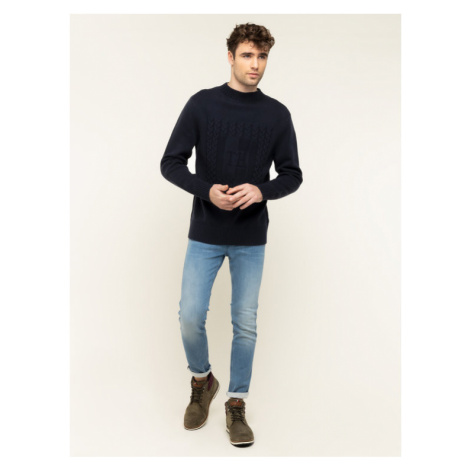 Tommy Hilfiger Sweter Gift Givng MW0MW12267 Granatowy Regular Fit