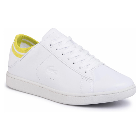 Sneakersy LACOSTE - Carnaby Evo Duo 120 1 Sfa 7-39SFA0011V05 Wht/Ylw