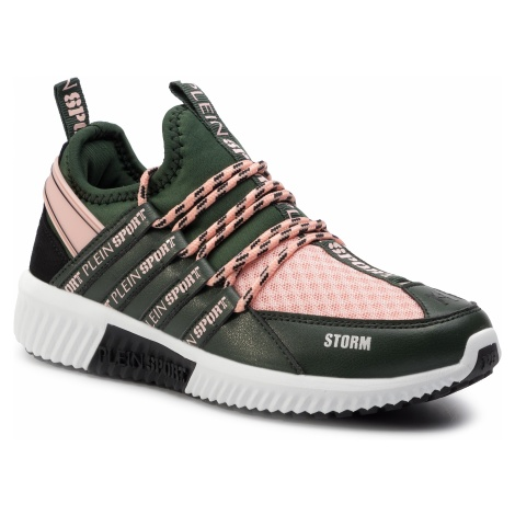 Sneakersy PLEIN SPORT - Runner Logos F19S MSC2237 STE003N Military/Rose 6503