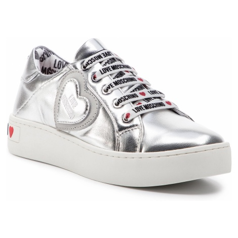 Sneakersy LOVE MOSCHINO - JA15133G17IC0902 Lam/Argent