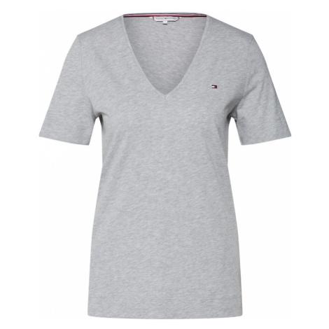 TOMMY HILFIGER Koszulka nakrapiany szary / czerwony / czarny / biały
