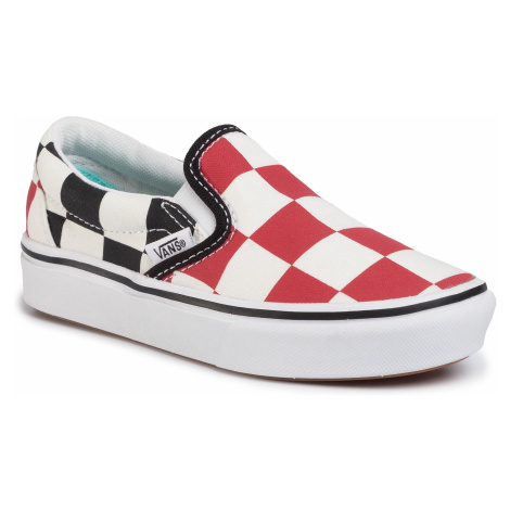 Tenisówki VANS - Comfycush Slip-On VN0A4U1SXWD1 (Big Checker) Red/Black